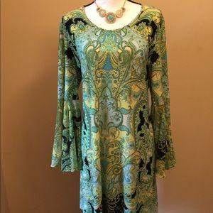 MSK Bell Sleeve Dress